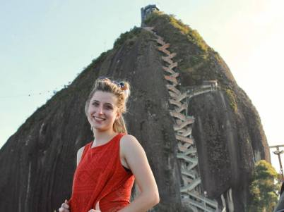 Climbing El Peñol in Guatape