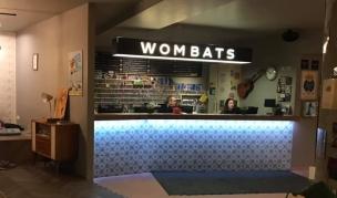 Wombats retro check-in desk, Vienna, Austria